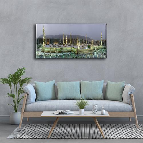 Medine-i Münevvere Panoramik Kanvas Tablo