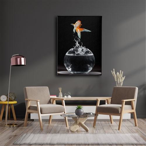 Akvaryum Balık Kanvas Tablo